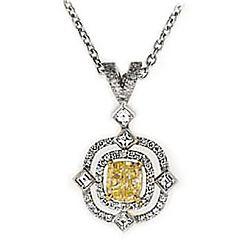 YELLOW CUSHION DIAMOND PENDANT