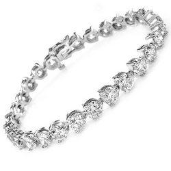 6.00 Ct. TW Round Diamond Tennis Bracelet in 14 kt. Three Prong Mounting