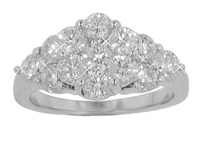2.75 Ct. TW Round Diamond Cluster Ring