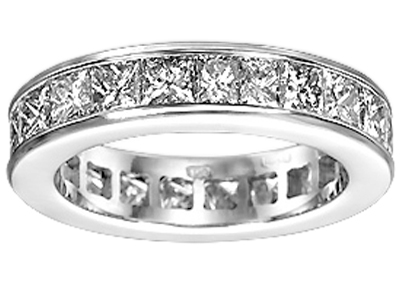 4.00 Ct. TW Princess Diamond Eternity Wedding Band in Channel Setting