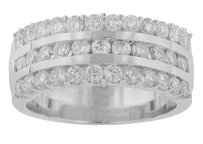1.75 Ct. TW Round Diamond Triple Row Anniversary Band