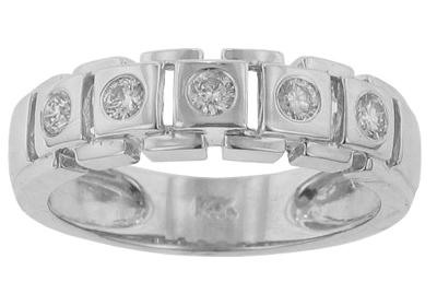 M. A. Jewelry Designs 0.75 Ct. TW Mens Burnish Set Round Diamond Wedding