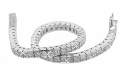 3.00 Ct. TW Princess Diamond Tennis Bracelet in 14 kt. Channel Setting