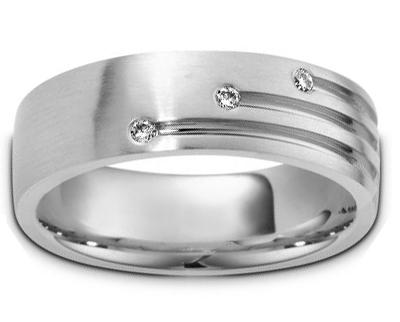 0.30 Ct. TW Men's Round Diamond Wedding Band