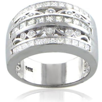 2.00 Ct. TW Princess and Round Diamond Anniversary Band