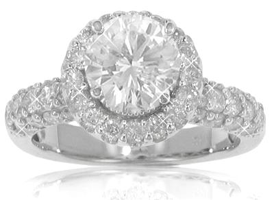 3.90 ct. TW Round Diamond Engagement Ring