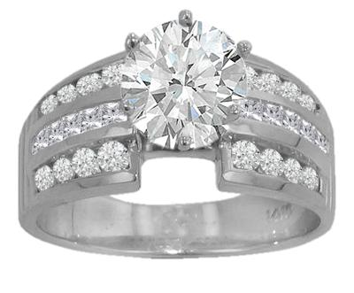 2.46 ct. TW Round Diamond Engagement Ring