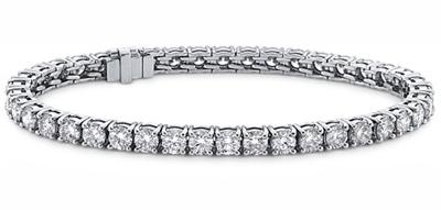 9.00 Ct. TW Round Diamond Tennis Bracelet in 14 kt. Prong Mounting