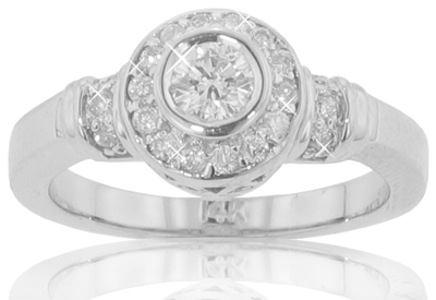 0.75 Ct. TW Bezel Set Round Diamond Anniversary Ring