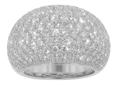 6.50 Ct. TW Micro Pave Round Diamond Anniversary Ring