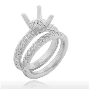 1.70 Ct. TW Round Diamond Engagement Mount with Wedding Band