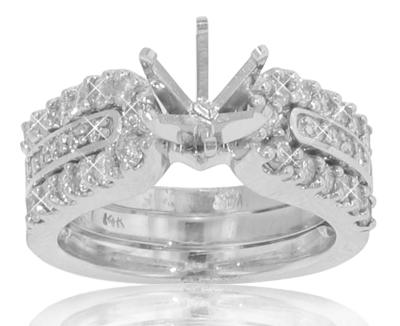 2.75 Ct. TW Round Diamond Engagement Semi Mount