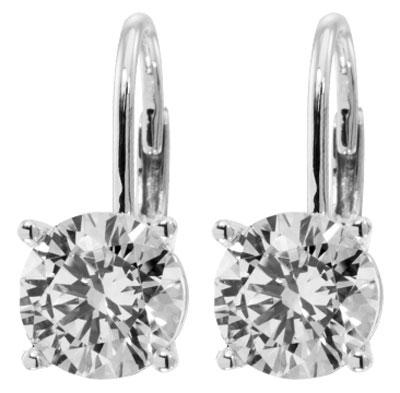 2.00 Ct. TW Round Diamond Drop Stud Earrings in 14 kt. French Back Mounts