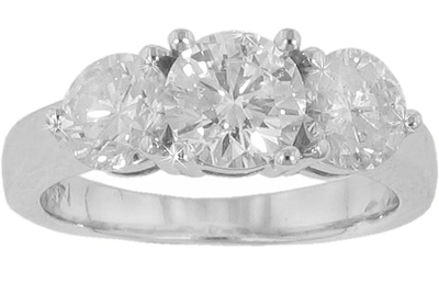 2.70 ct. TW Round Three Stone Diamond Engagement Ring