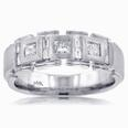 1.75 Ct. TW Men's Princess and Baguette Diamond Wedding Band
