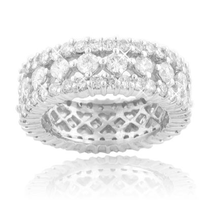 M. A. Jewelry Designs 5.00 Ct. TW Ladies Round Cut Diamond Eternity Wedding Band at Sears.com
