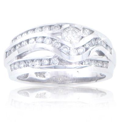 1.50 ct TW Ladies round cut diamond  anniversary band