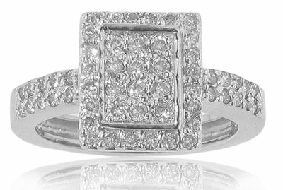 1.00 ct TW round cut diamond anniversary ring
