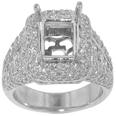 3.00 ct TW Ladies Round Cut Diamond Semi Mount