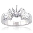 1.00 ct tw Marquise and Bagutte Cut Diamond Semi Mount