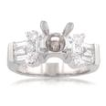 1.50 ct tw Diamond Semi Mount Engagement Ring