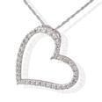 1.00CT JOURNEYS HEART LOVE SHAPE DIAMONDS PENDANT WITH 16