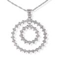 1.00CT ROUND CUT DIAMONDS JOURNEYS PENDANTS NECKLACE WITH 16