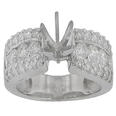 1.00 Ct. TW Round Diamond Engagement Semi Mount