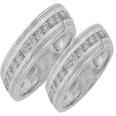 2.75 ct TTW His & Hers Round Diamond Eternity Wedding Bands