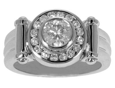 2.20 Ct. TW Men's Round Diamond Pinky Ring