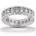 1.25 ct. TW Round Diamond Antique Style Eternity Wedding Band