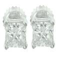 0.80 Ct. TW Princess Diamond Stud Earrings in Screw back Mountings