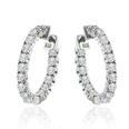 1.50 Ct. TW  Round Diamond Inside-Outside Hoop Huggy Earrings