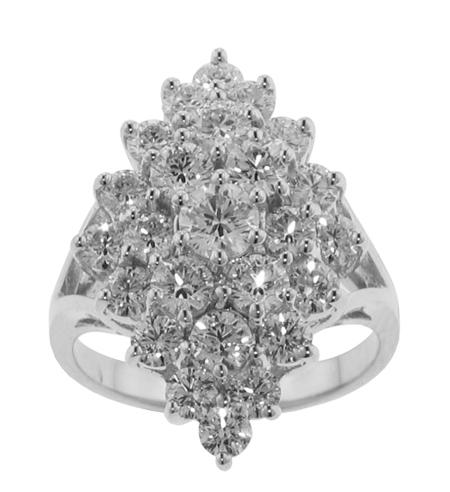 3.00 ct. TW Round Cut Diamond Anniversary Cluster Ring
