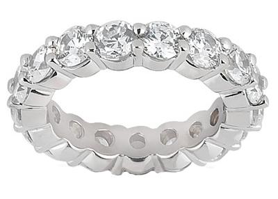 2.75 ct. TW Round Diamond Eternity Wedding Band