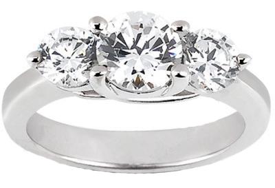 1.75 ct. TW Round Diamond Three Stone Ring