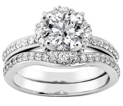 1.81 ct. TW Round Cut Diamond Engagement Ring with Wedding Band