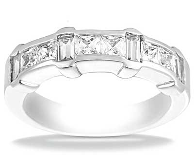 1.50 ct. TW Princess and Baguette Cut Diamond Wedding Band