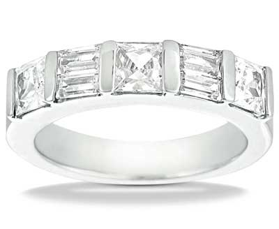 2.00 ct. TW Princess and Baguette Cut Diamond Wedding Band