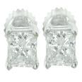 0.50 Ct. Tw Princess Diamond Stud Earrings In Screw Back Mountings