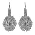 2.00 Ct. TW Round Diamond Drop Cluster Earrings French Back Mounts