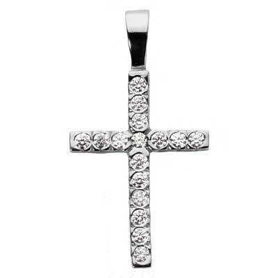 0.20 ct. TW Round Diamond Cross Pendant