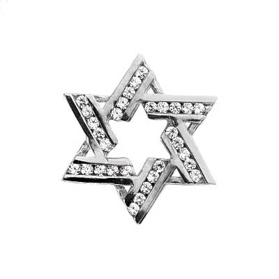 0.50 ct. TW Round Diamond Star of David Pendant
