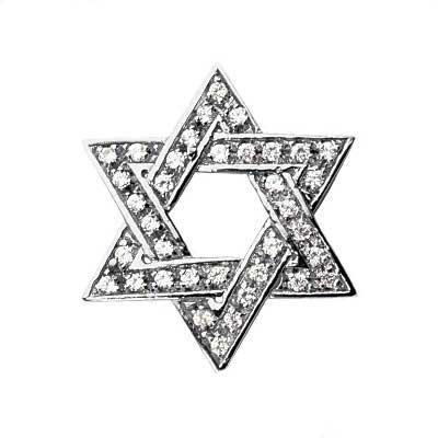 0.75 ct. TW Round Diamond Star of David Pendant