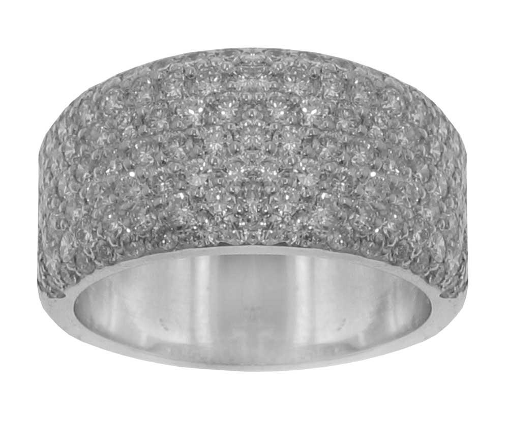 3.21 Ct Ladies Round Cut Diamond Anniversary Ring